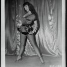BETTY PAGE SHORT SATIN LEGGY POSE IRVING KLAW VINTAGE PHOTO 4X5  BP-188