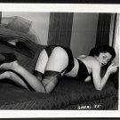 FETISH MODEL SHERI BLACK SATIN PANTIES BOOTY POSE IRVING KLAW VINTAGE PHOTO 4X5 #35