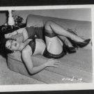 STRIPPER RENE RUSSELL BLACK LACE BRA POSE IRVING KLAW VINTAGE PHOTO 4X5 #14