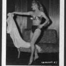 EXOTIC STRIPPER LA SAVONA SEXY POSE IRVING KLAW VINTAGE PHOTO 4X5 #57