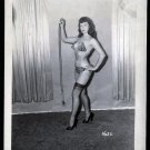 BETTY PAGE LEOPARD BIKINI POSE IRVING KLAW VINTAGE PHOTO 4X5 #1632
