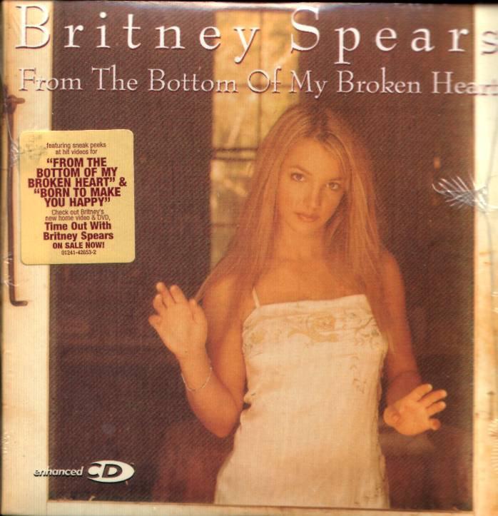 BRITNEY SPEARS FROM THE BOTTOM OF MY BROKEN HEART ENHANCED CD 2000 MINT SEALED NEVER OPENED RARE
