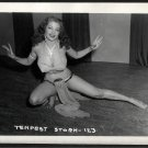 STRIPPER TEMPEST STORM VINTAGE IRVING KLAW PHOTO 4X5 #123