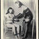 BETTY PAGE LEOPARD BIKINI POSE IRVING KLAW VINTAGE PHOTO 4X5  #7506