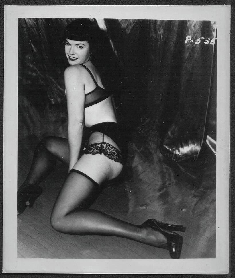 BETTY/BETTIE PAGE VINTAGE IRVING KLAW PHOTO 4X5  P-535