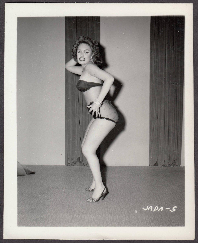 INFAMOUS STRIPPER JADA CONFORTO IRVING KLAW VINTAGE ORIGINAL PHOTO 4X5 1950'S #5