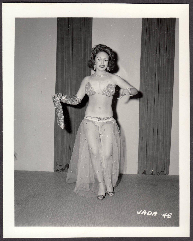 INFAMOUS STRIPPER JADA CONFORTO IRVING KLAW VINTAGE ORIGINAL PHOTO 4X5 1950'S #48