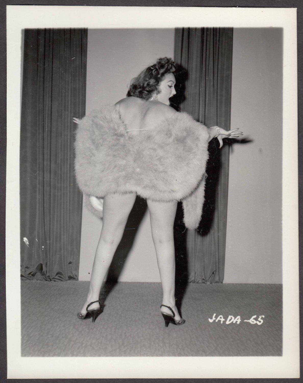 INFAMOUS STRIPPER JADA CONFORTO IRVING KLAW VINTAGE ORIGINAL PHOTO 4X5 1950'S #65