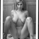 HOT BLONDE BABE NUDE BIG BOOBS SHAVED PUSSY POSE NEW REPRINT PHOTO 5 X 7  #35N