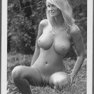 HOT BLONDE BABE NUDE BIG BOOBS SHAVED PUSSY POSE NEW REPRINT PHOTO 5 X 7  #60A