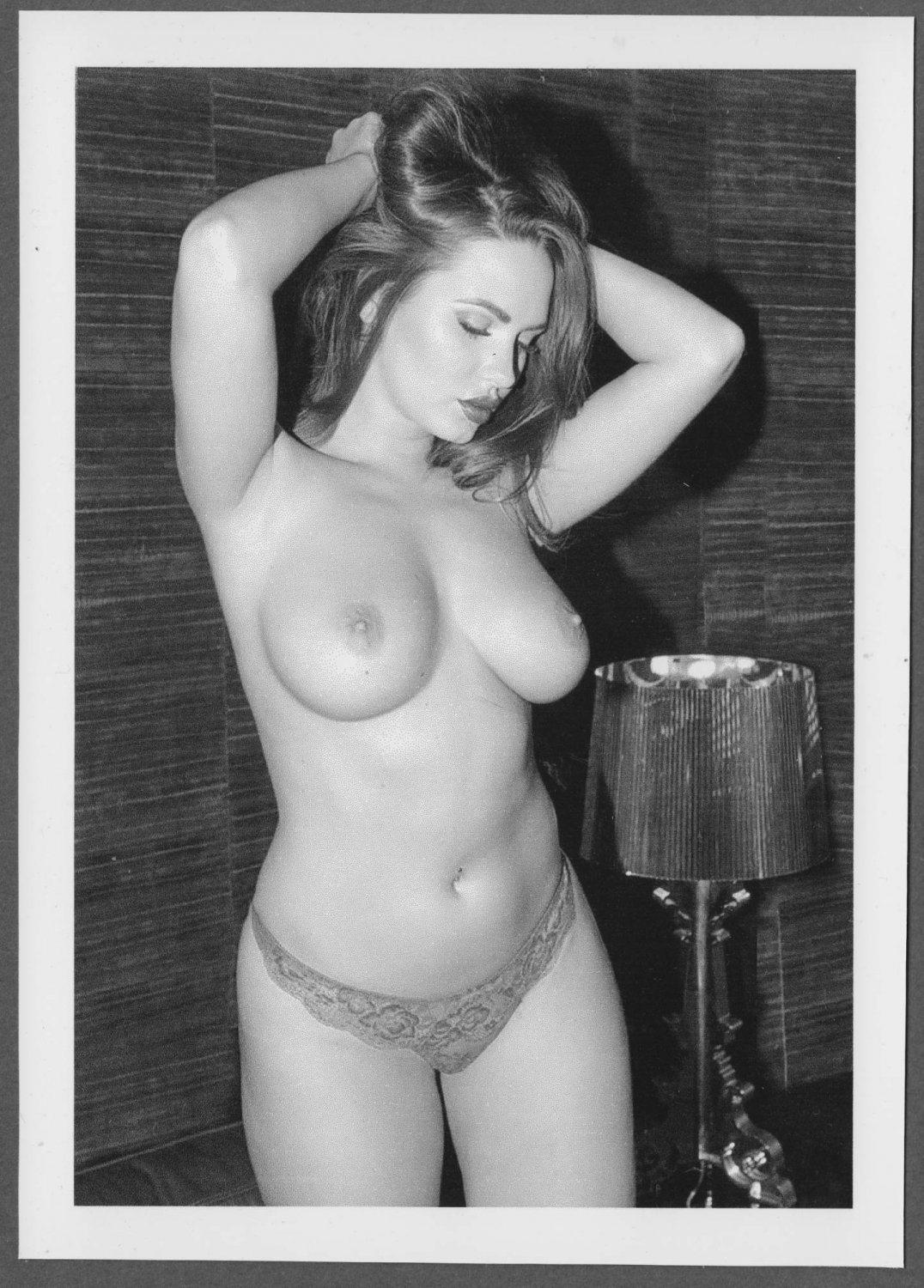 HOT BUSTY BABE NUDE BIG BOOBS POSE NEW REPRINT PHOTO 5 X 7  #65A