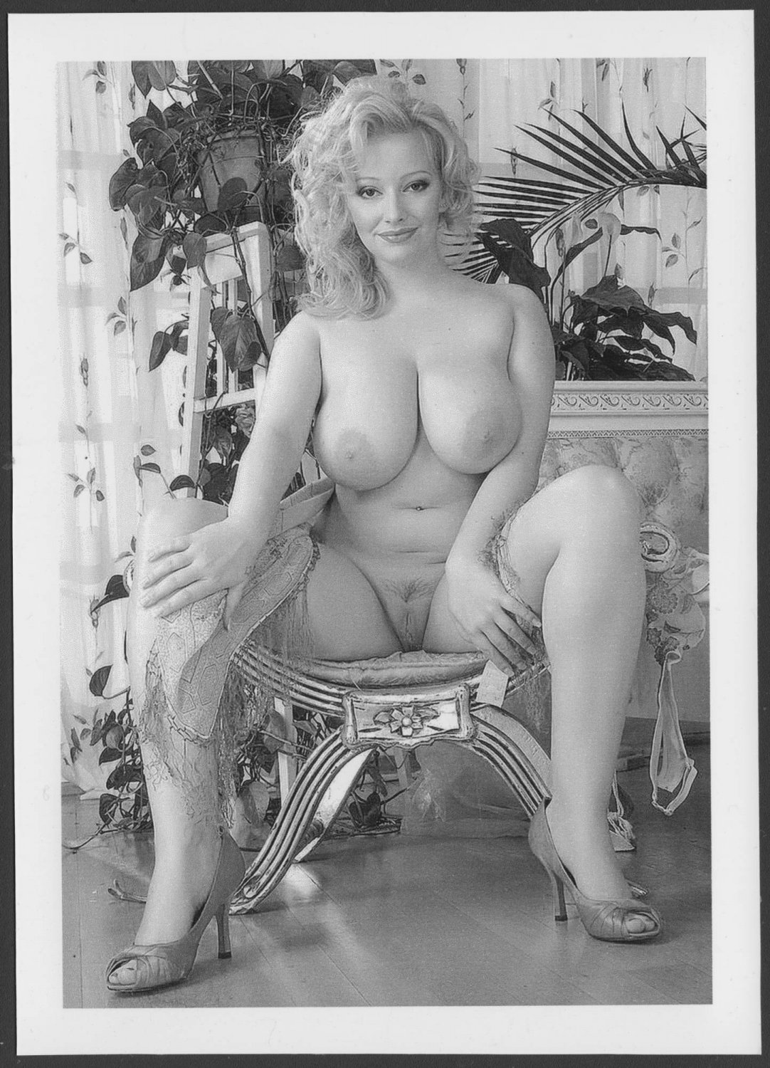 HOT BLONDE BABE SOPHIE MEI ALL NUDE BIG BOOBS SHAVED PUSSY POSE NEW REPRINT PHOTO 5 X 7  #66