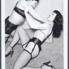 BETTY PAGE & BRANDY KAYEE POSE TOGETHER 5X7 REPRINT #006B