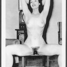 BETTY PAGE TOTALLY NUDE BREASTS WIDE HAIRY PUSSY POSE NEW REPRINT 5X7  #836