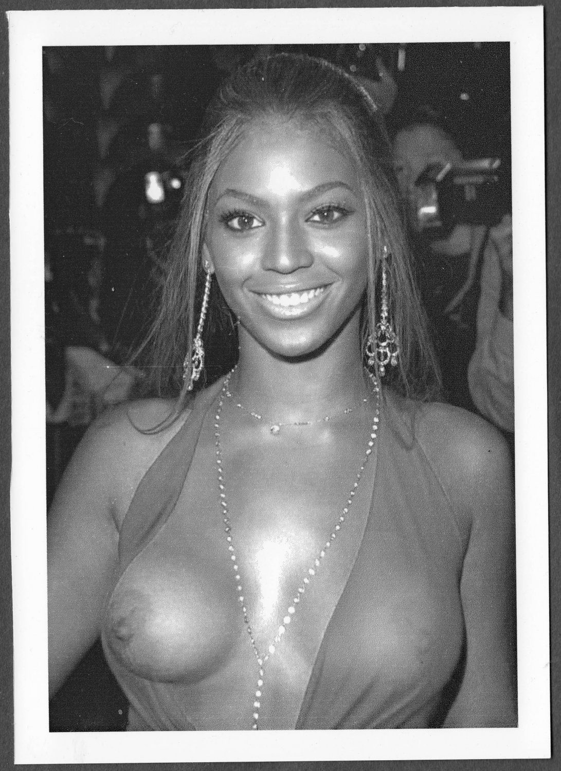 BEYONCE KNOWLES TOPLESS NEW REPRINT PHOTO 5X7 #5
