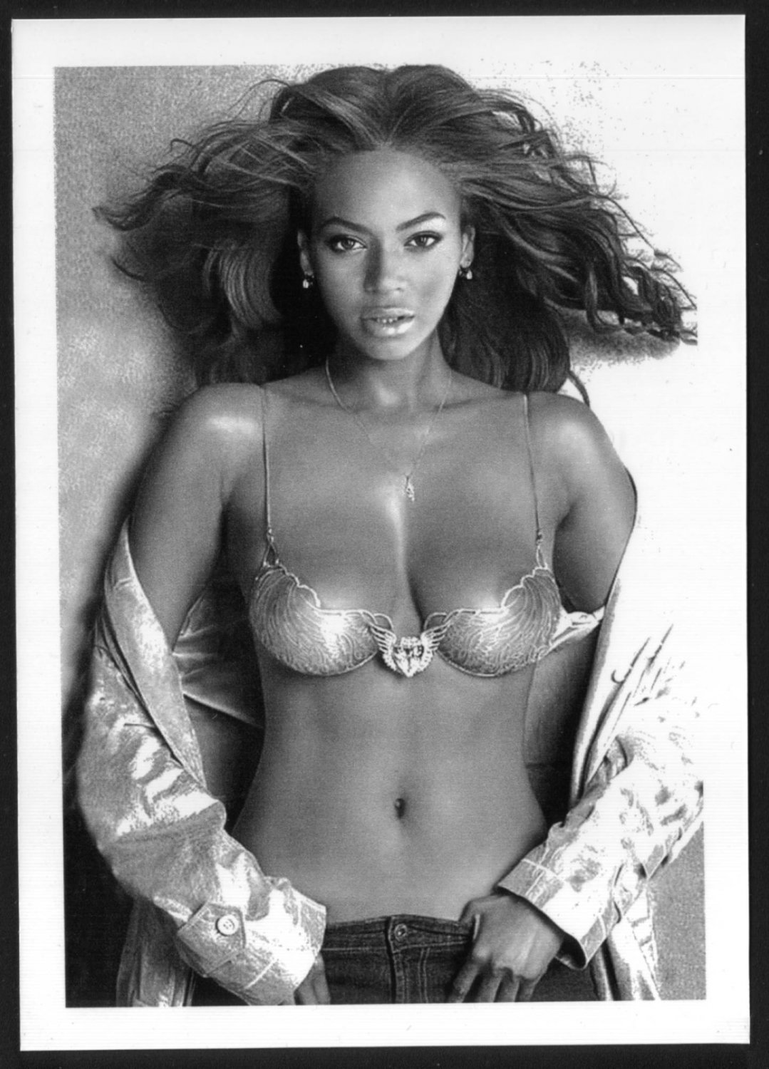 BEYONCE KNOWLES TOPLESS NEW REPRINT PHOTO 5X7 #3