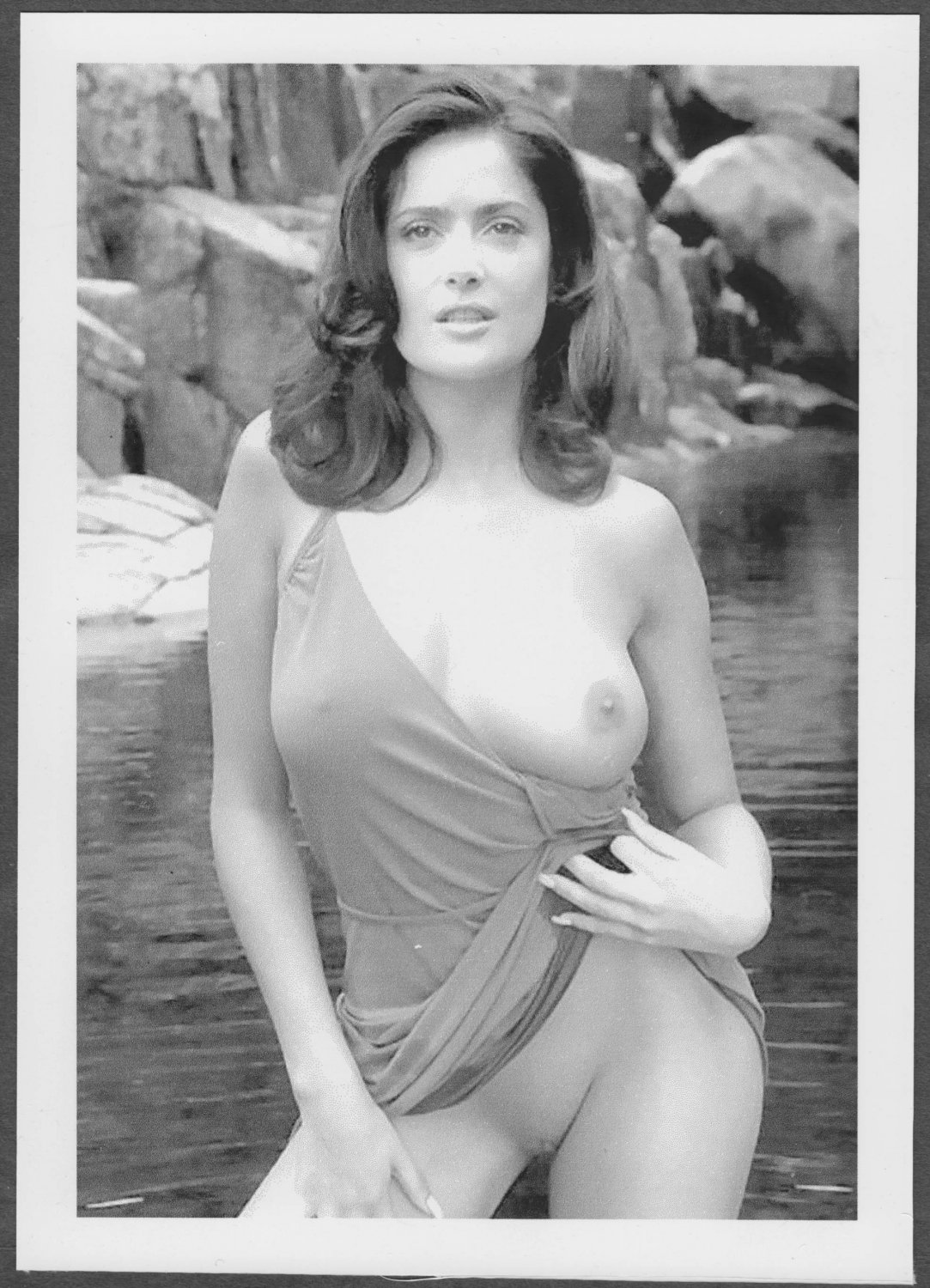 SALMA HAYEK TOTALLY NUDE BIG LARGE BREASTS SHAVED PUSSY NEW REPRINT 5 X 7 #4