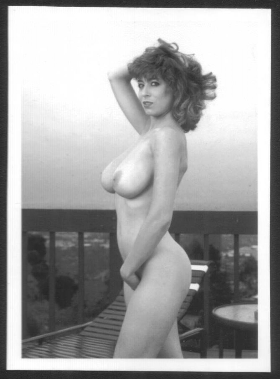 CHRISTY CANYON TOTALLY NUDE HEAVY HANGING BREASTS HAIRY PUSSY 5X7 REPRINT #61