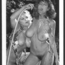 CHRISTY CANYON & BLONDE MODEL TOTALLY NUDE HEAVY HANGING BREASTS HAIRY PUSSY 5X7 REPRINT #84