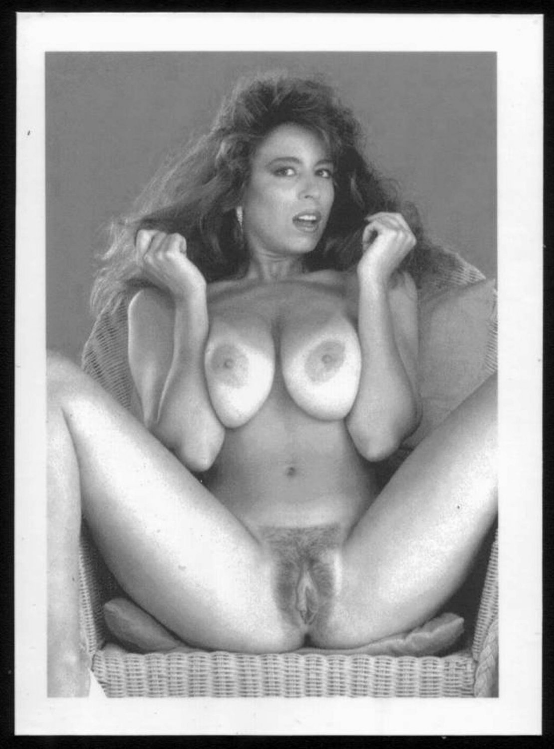 CHRISTY CANYON TOTALLY NUDE HEAVY HANGING BREASTS HAIRY PUSSY 5X7 REPRINT #136