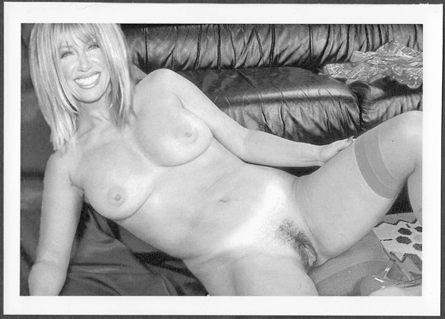 SUZANNE SOMERS TOTALLY NUDE BIG LARGE BREASTS HAIRY PUSSY 5X7 REPRINT SS-007