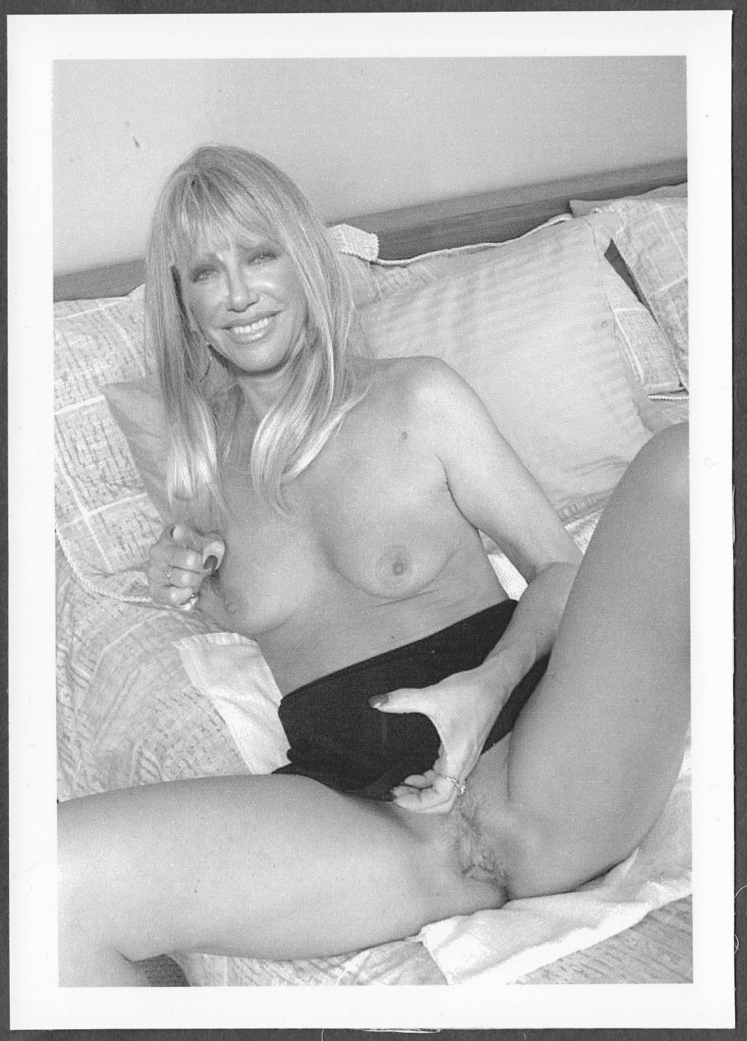 SUZANNE SOMERS TOTALLY NUDE BIG LARGE BREASTS HAIRY PUSSY 5X7 REPRINT SS-05