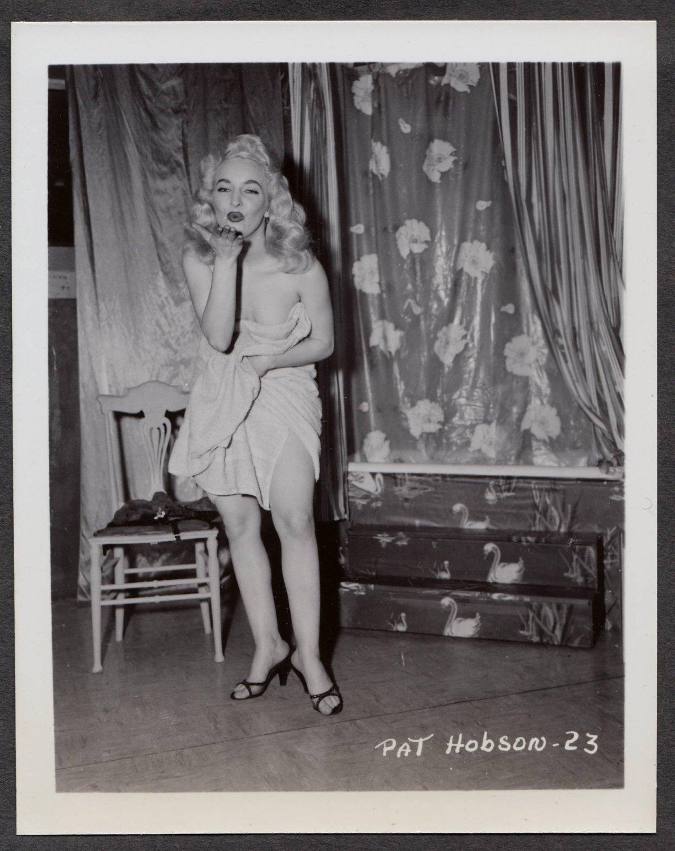 STRIPPER PAT HOBSON IRVING KLAW VINTAGE ORIGINAL PHOTO 4X5 1950'S #23