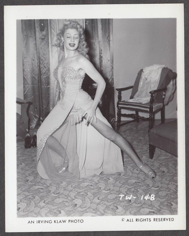 STRIPPER TRUDY WAYNE IRVING KLAW VINTAGE ORIGINAL PHOTO 4X5 1950'S #148