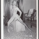 STRIPPER TRUDY WAYNE IRVING KLAW VINTAGE ORIGINAL PHOTO 4X5 1950'S #148