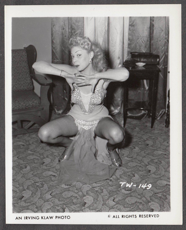 STRIPPER TRUDY WAYNE IRVING KLAW VINTAGE ORIGINAL PHOTO 4X5 1950'S #149