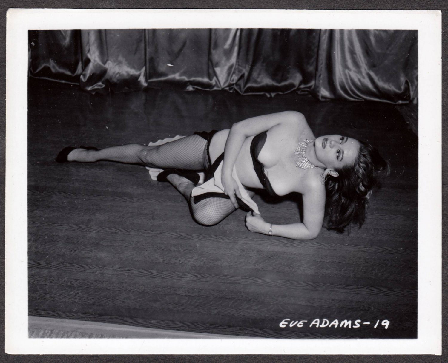 STRIPPER EVE ADAMS IRVING KLAW VINTAGE ORIGINAL PHOTO 4X5 1950'S #19
