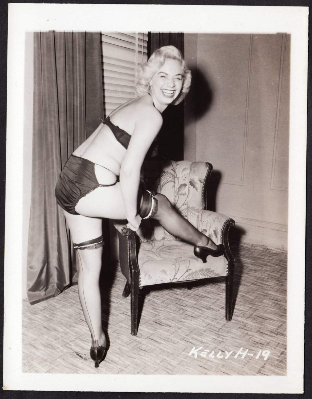 STRIPPER KELLY HARRIS IRVING KLAW VINTAGE ORIGINAL PHOTO 4X5 1950'S #19