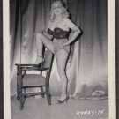 STRIPPER HONEY BAER IRVING KLAW VINTAGE ORIGINAL PHOTO 4X5 1950'S #15
