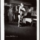 STRIPPER LOIS DeFEE IRVING KLAW VINTAGE ORIGINAL PHOTO 4X5 1950'S #1