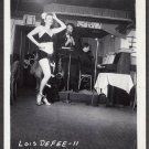 STRIPPER LOIS DeFEE IRVING KLAW VINTAGE ORIGINAL PHOTO 4X5 1950'S #11