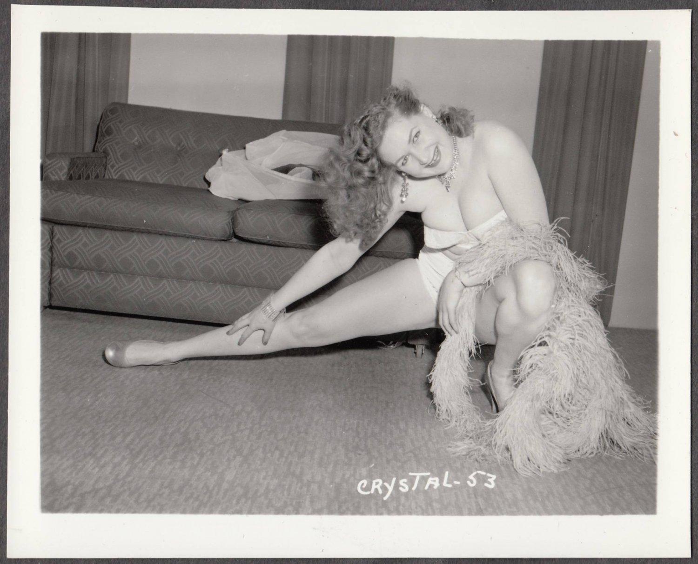 STRIPPER CRYSTAL WADE IRVING KLAW VINTAGE ORIGINAL PHOTO 4X5 1950'S #53