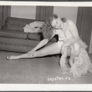 STRIPPER CRYSTAL WADE IRVING KLAW VINTAGE ORIGINAL PHOTO 4X5 1950'S #53
