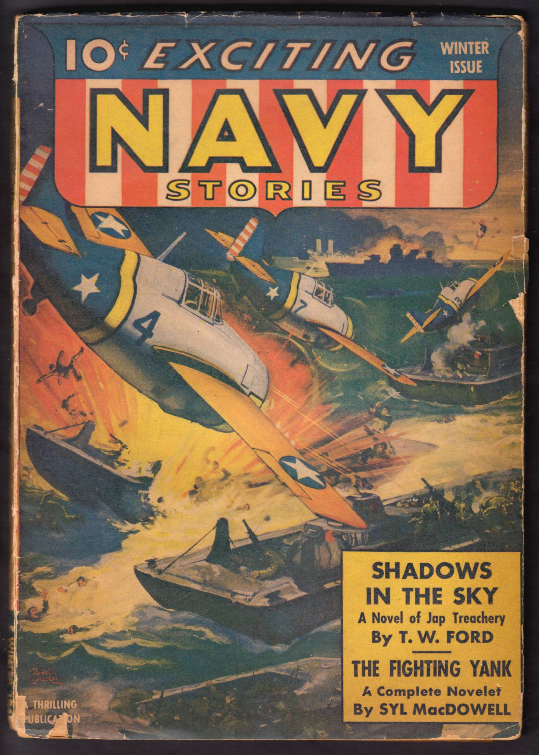 EXCITING NAVY STORIES WINTER ISSUE VOLUME 1 NUMBER 2 PUBLISHED 1942