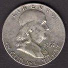 1957-D FRANKLIN SILVER HALF DOLLAR CIRCULATED CONDITION