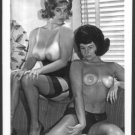 JANEY REYNOLDS & PAL TOPLESS NUDE HUGE HEAVY HANGING BOOBS POSE 5X7 NEW REPRINT #16