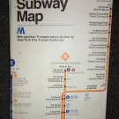 VINTAGE MTA NEW YORK CITY SUBWAY MAP 1979 RARE