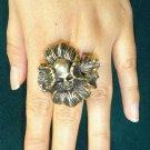 Vintage Skull Flower Ring