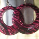 Dark pink Glitter Earrings