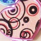 Pink Mirror with black swirls