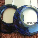 Imperfect purple gliter earrings