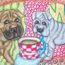 Do Chinese Shar-Peis Have Coffee?
