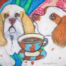 Do Clumber Spaniels Have Coffee?