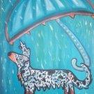 Doxie Under Umbrella