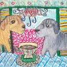 Do Glen of Imaal Terriers Have Coffee? Dog Art Giclee Print
