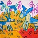 ALPINE Frisk Dairy Goat Giclee Art Print 8.5 x 11 NEW